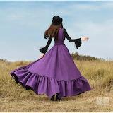 Silhouette-robe longue