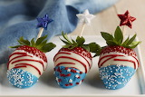 ^ July 4 dipped red white blue strawberries - © Copyright 2011 N