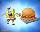Spongebob Serves a Krabby Patty
