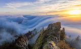 Foggy Wave Over Belchenflue Mountain