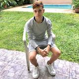 Teen in sneakers