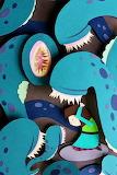 Leeches (cut paper) by Loree Boehm