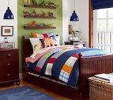 blue-patchwork-quilt-pendant-lit-boys-room