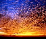 Popcorn Clouds Sunset