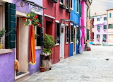 Bright multicolored houses