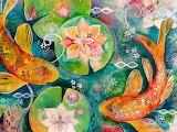 goldfish and lotus, Jennifer Currie