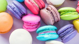 ^ Colorful macarons