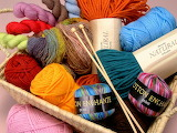 ^ Basket of yarn