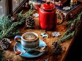 Cafe con decoración