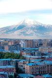 Mount Ararat and Yerevan at sunrise