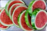 ^ Watermelon slices