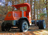 Old Mack Garbage Truck