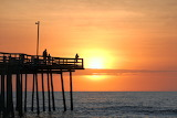 Early morning pier fishing Outer Banks