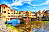 Homes on a Bridge Florence Italy