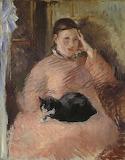 Édouard Manet, Femme au chat (Portrait de Madame Manet), 1880-82