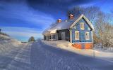 Deep winter blue house