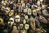 African masks johannesburg market south africa