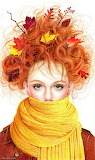 Autumn in the hair