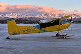 Skydance Aviation Ski Plane on frozen Lake Hood, Anchorage, AK