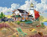Lighthouse-painting-Joseph-Burgess