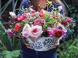 Bowl Full of Flowers by Rowan Blossom's Florist credit FlowerMag