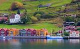 Norway Houses Marinas Port de Kaupanger Bay 568455 1280x788