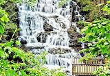 Upper Helton Creek Waterfall Northeast Georgia Mountains USA