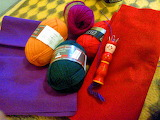 Wool and colored fabrics