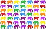 rainbow colored elephants