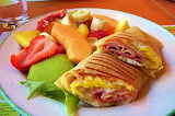 #Killer Breakfast Wrap and Fruit Salad