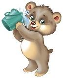 Bear with bucket