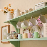 Lovely homespun shelves