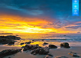 Sunset over the coast of Taiwan by auricle99 from magic jigsaw p