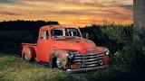Retro Chevy Sunset
