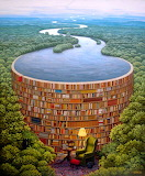 Library Ammonite ~ Jacek Yerka
