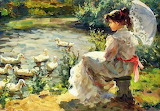 Young Girl By Pond