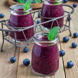 #Blueberry Plum Smoothies