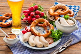 Traditional Bavarian meal