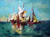 Sailing Boats by Lyubomir Kolarov