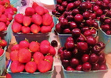 #Fresh Strawberries and Cherries at Granville Market