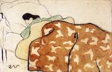 Edouard Vuillard, femme au lit, 1891