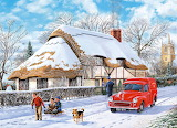 Delivering a Christmas Parcel - Trevor Mitchell