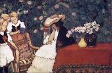 József Rippl-Rónai, Woman with three girls, 1910's