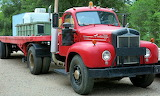 Mack Semi Truck and Flatbed Trailer