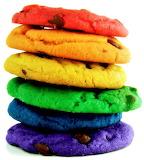 #Rainbow Chocolate Chip Cookies