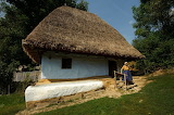 Thatched Roofed House in the Maramures