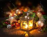 Lanterne-décor de Noël