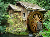 ^ Water Mill, Minter Gardens British Columbia Canada
