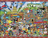 Hollywood Cartoon Collage