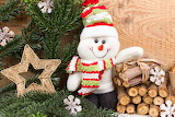 Christmas Star decoration Snowmen Winter hat Scarf 556248 1280x8